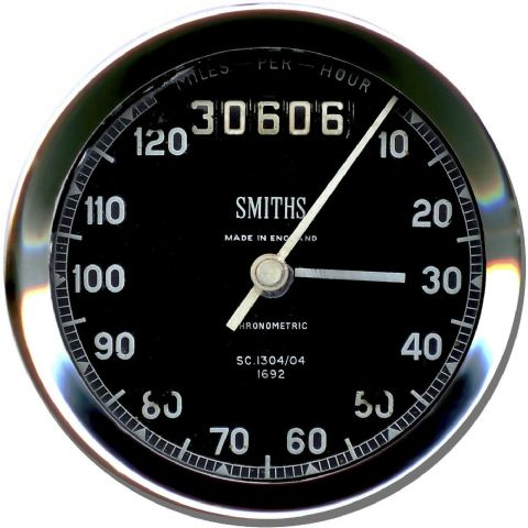 Smiths Speedometer Motorbike Round Computer Mouse Mat. Motorcycle Mouse pad